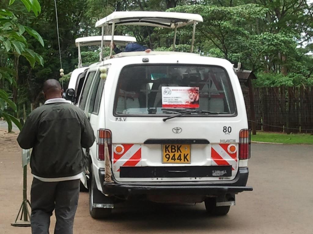 Safari van with popup roof